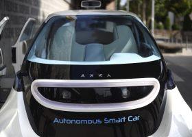 Presentation, par Akka Technologies, de Link & Go, son vehicule autonome